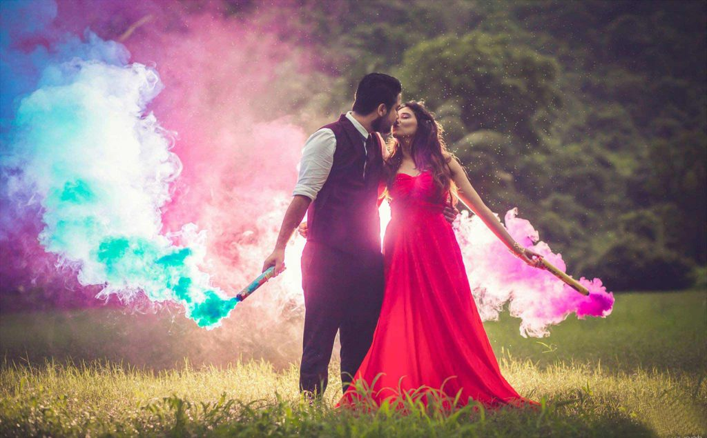 Shoot with smoke bombs