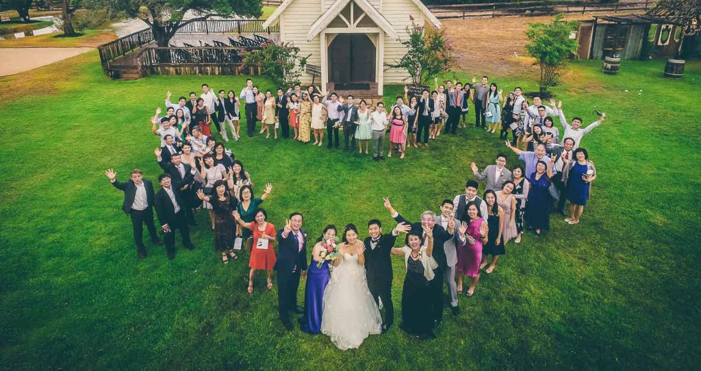 Aerial Wedding Photography Or Drone Photography Style