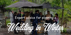 Expert advises for planning a wedding in winter