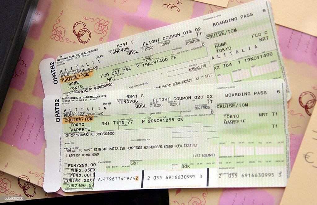Honeymoon Tickets