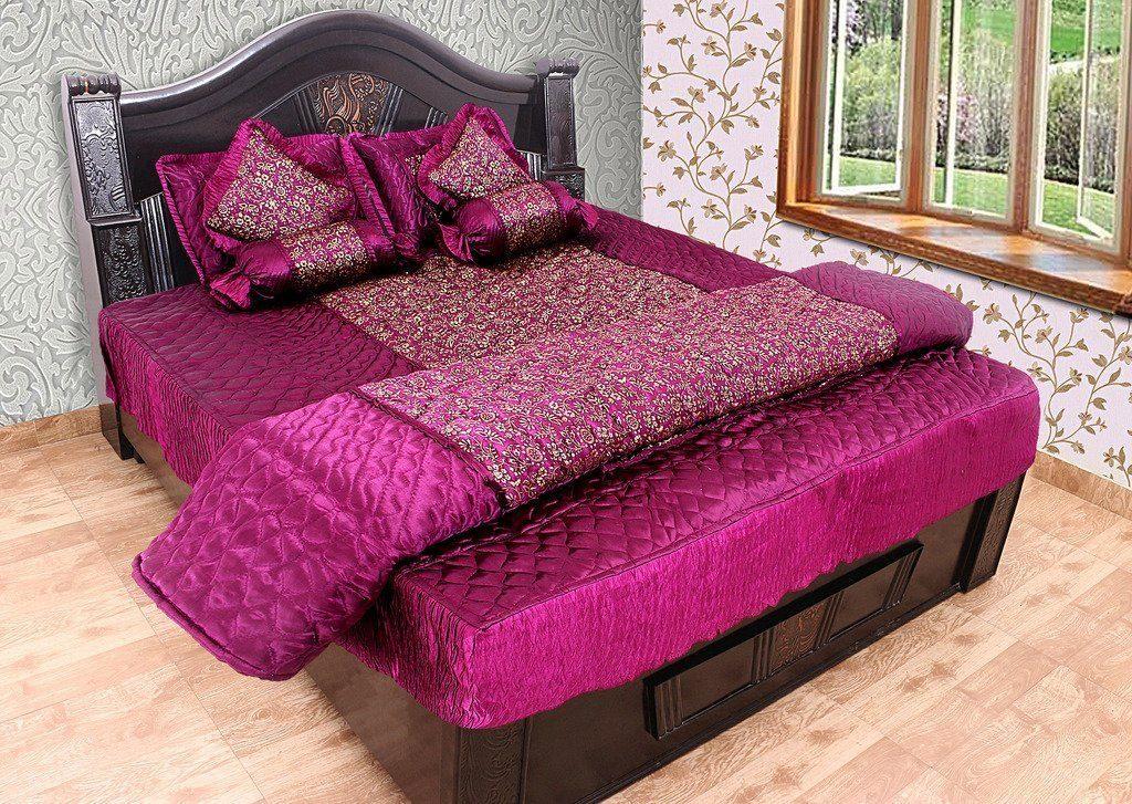 Rajasthan Crafts – 8 Piece Silk Bedding Set
