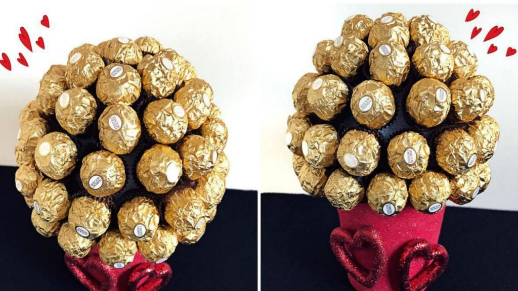 Chocolate bouquet made up of Ferrero Rocher