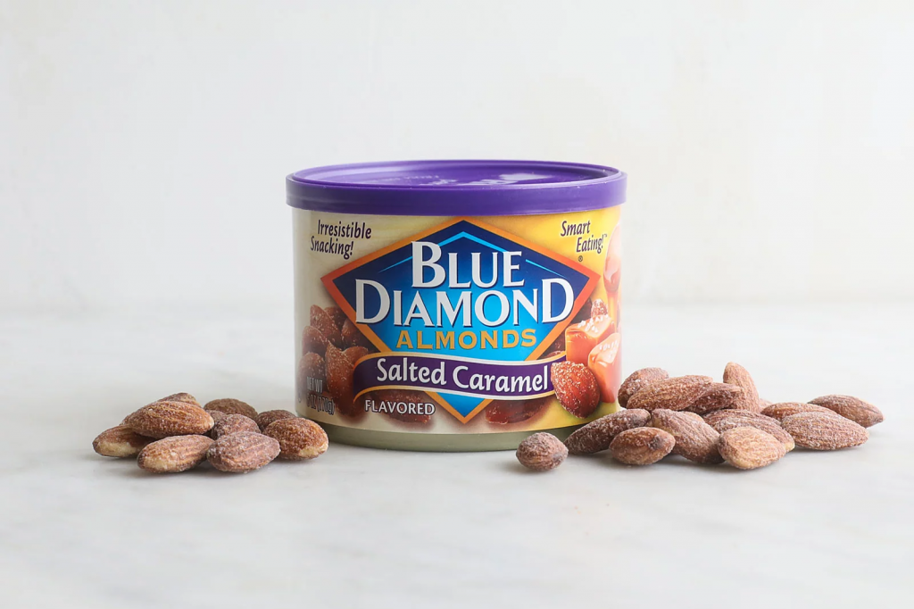 Flavored almonds