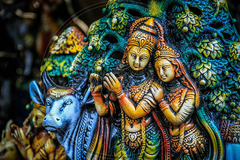 Idol of lord Krishna and Radha