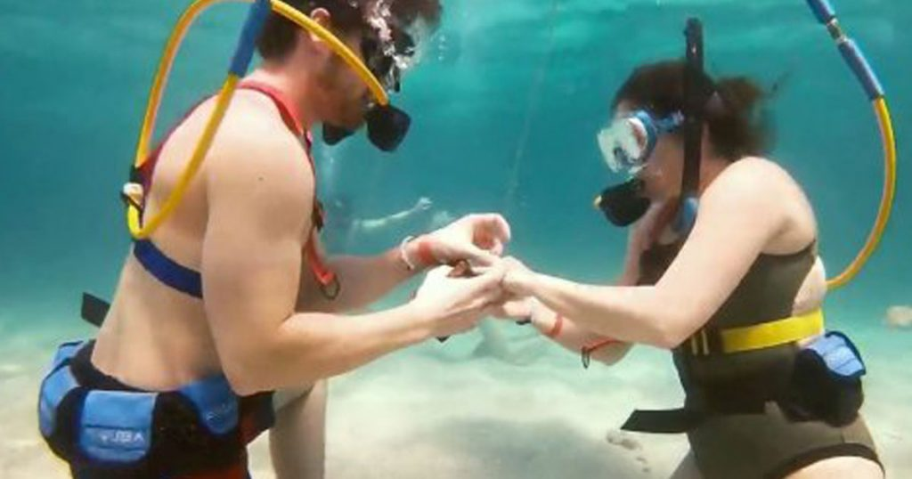 Propose under the sea