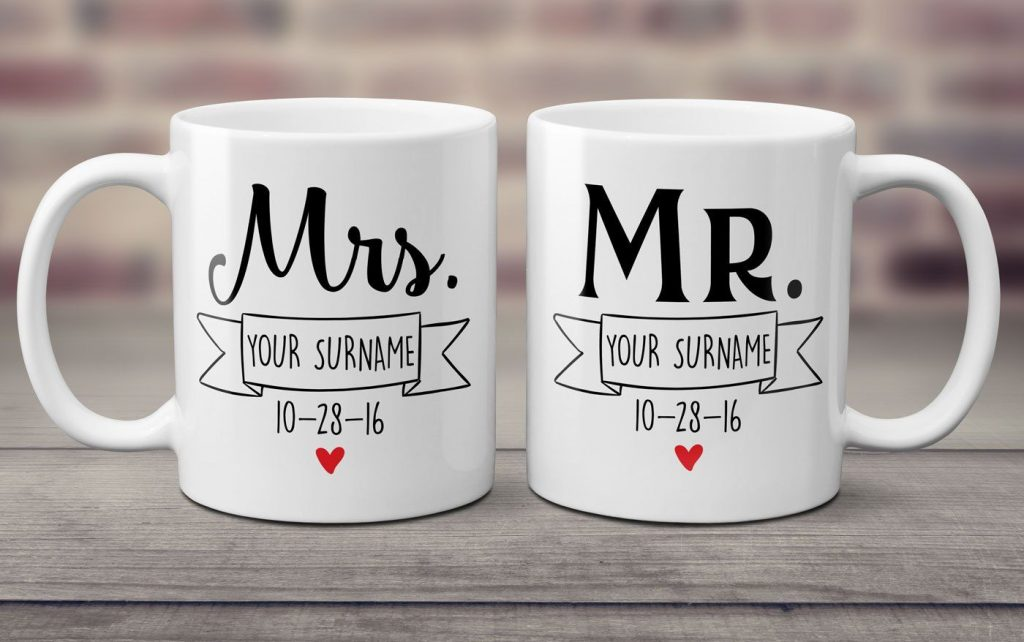 personalized coffee mug or a set of two