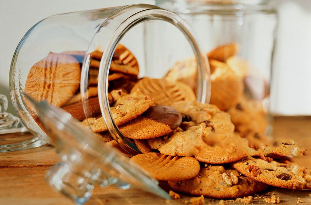 Assorted Cookies In A Jar