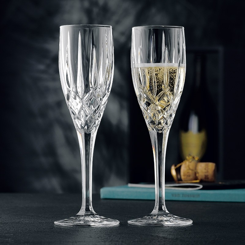 Flute Wine Glass for Parties - Set of 2