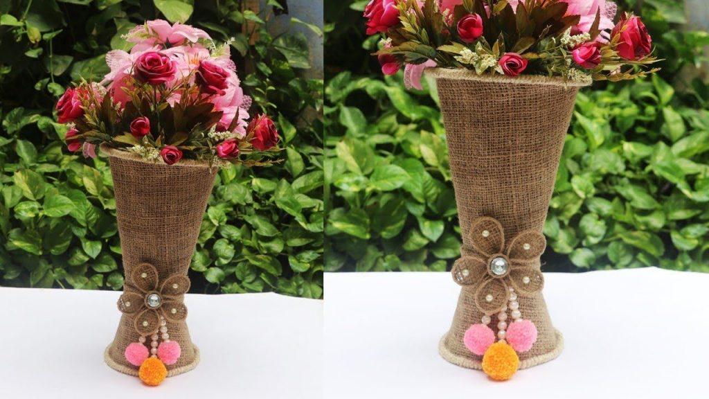 Handmade Flowers with Vase