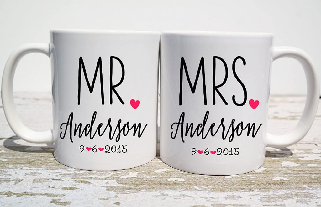 Mr and Mrs Coffee Mugs Gift