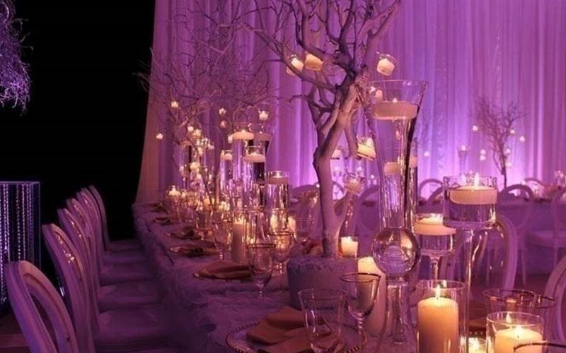 creative lighting ideas in winter for wedding reception