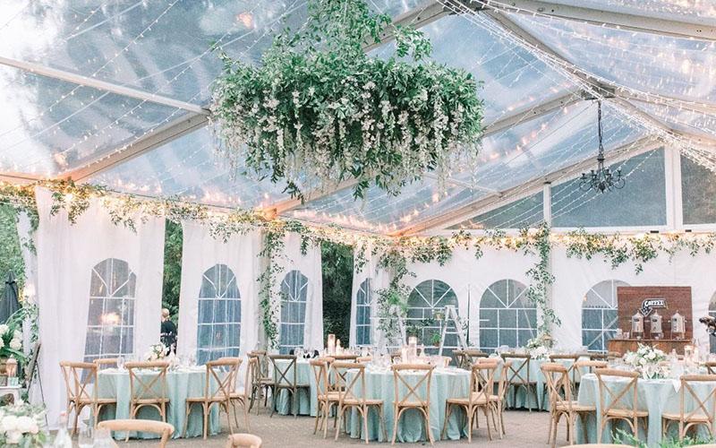 outdoor wedding reception chair, flower decoration