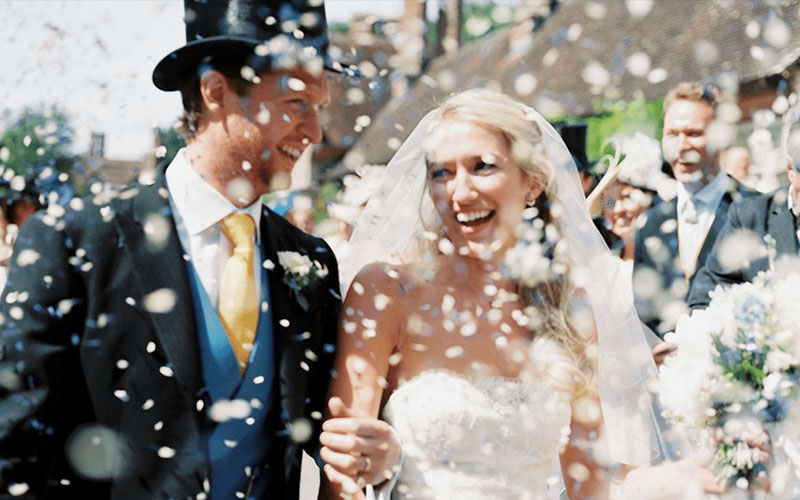 sparkler on Wedding couple