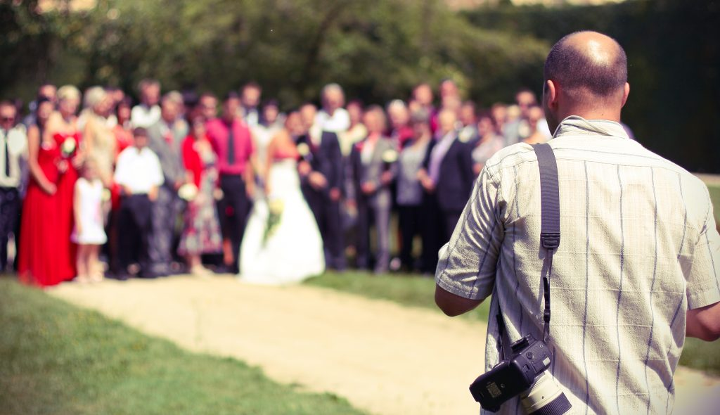 Hire a professional wedding photographer