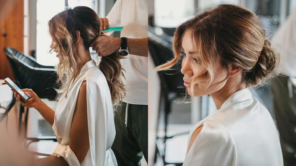 Decide your wedding hairstyle beforehand