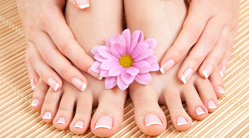 Get regular manicures and pedicures done