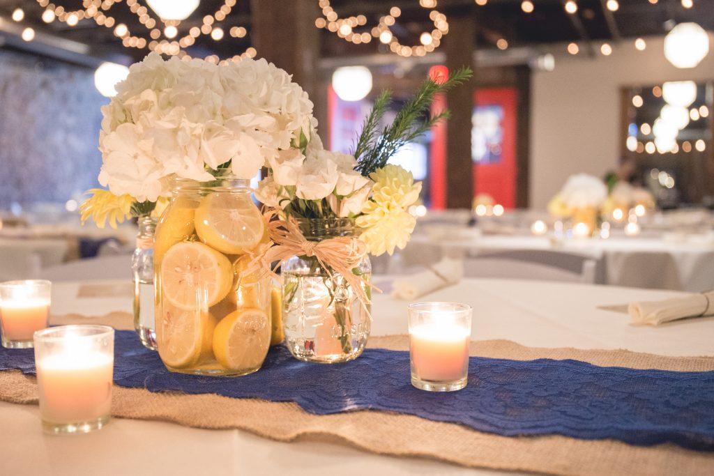 DIY centerpieces in wedding