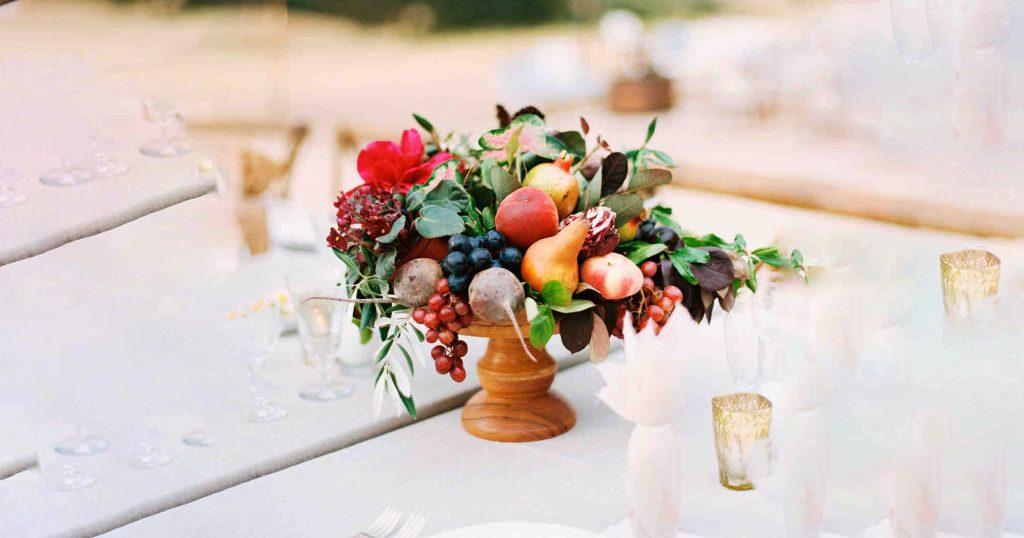 Replace Flower Centerpieces with Fruit Centerpieces