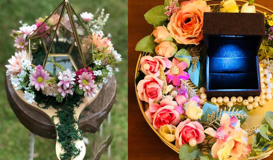 Garden wedding platter