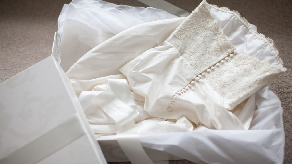 Get your wedding attire cleaned and preserved