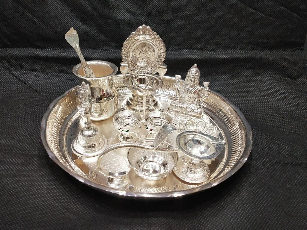 Go wedding silver tray