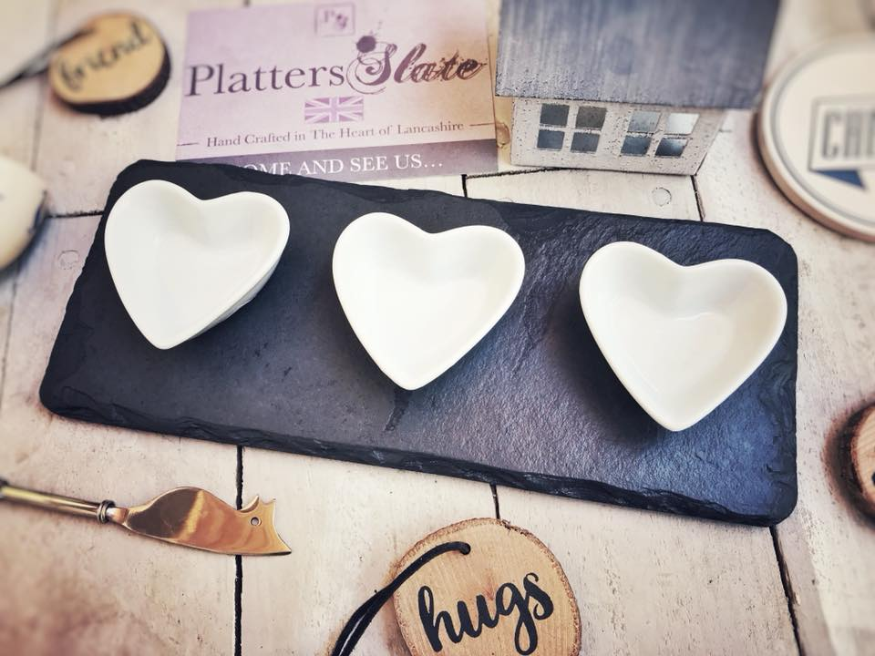 Heart wedding platter