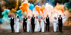 How to use smoke bombs in your wedding photos