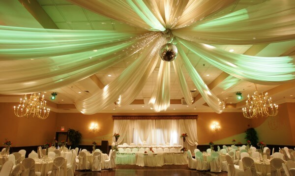 Draped Fabric Ceiling