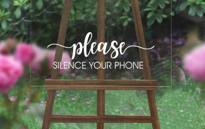 Keep your phone on silent during the ceremony