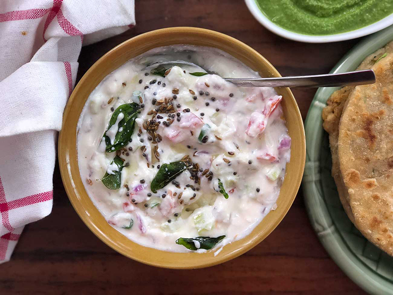 COURSE RECIPES, RAITA