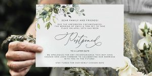 How to Tell Guests You're Postponing Your Wedding