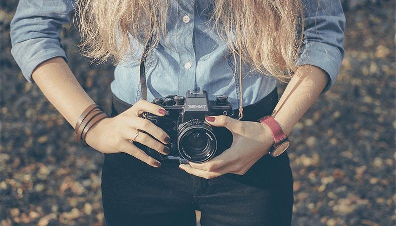 Wedding Photographer girl image