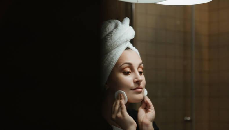 Skin care girl