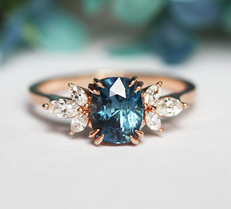 Blue Engagement Rings