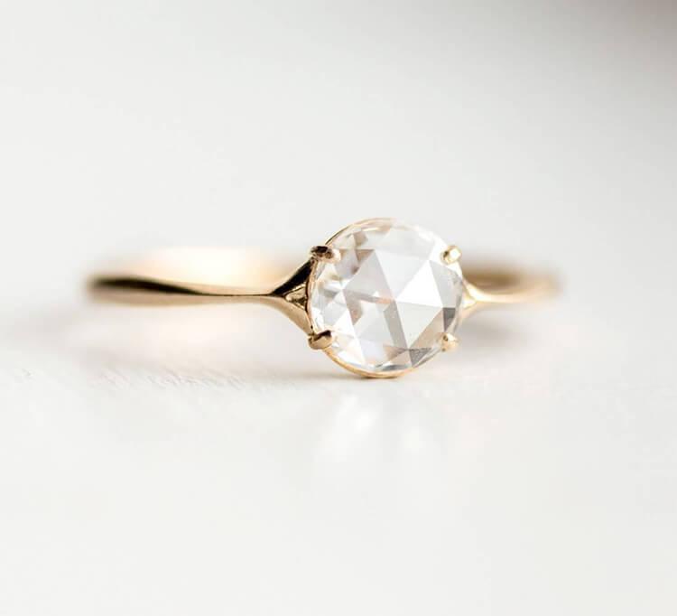 Rose Cut Diamond Engagement Rings
