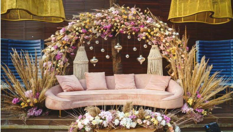 Roka Ceremony decoration stage