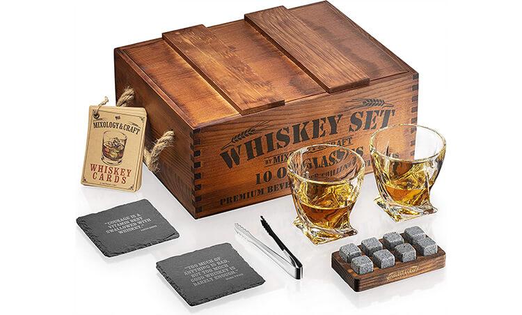 Premium Whiskey Stones Gift Set for Men