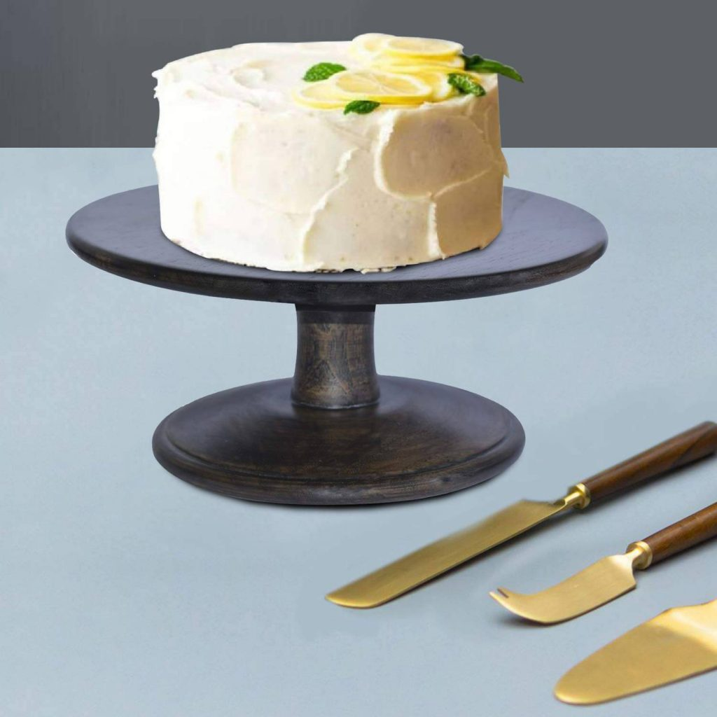 Gold Cake Cutting Knife and Server Set