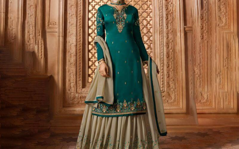 Retro Touch with Sharara Suit