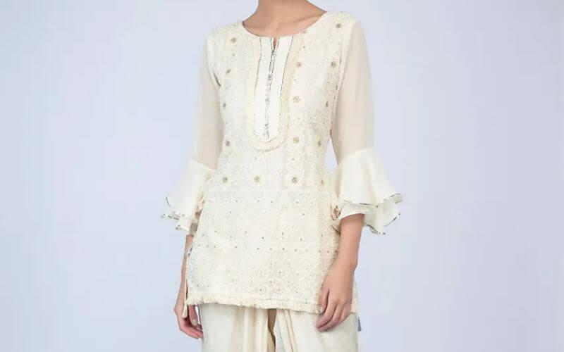 White color Dhoti Suit