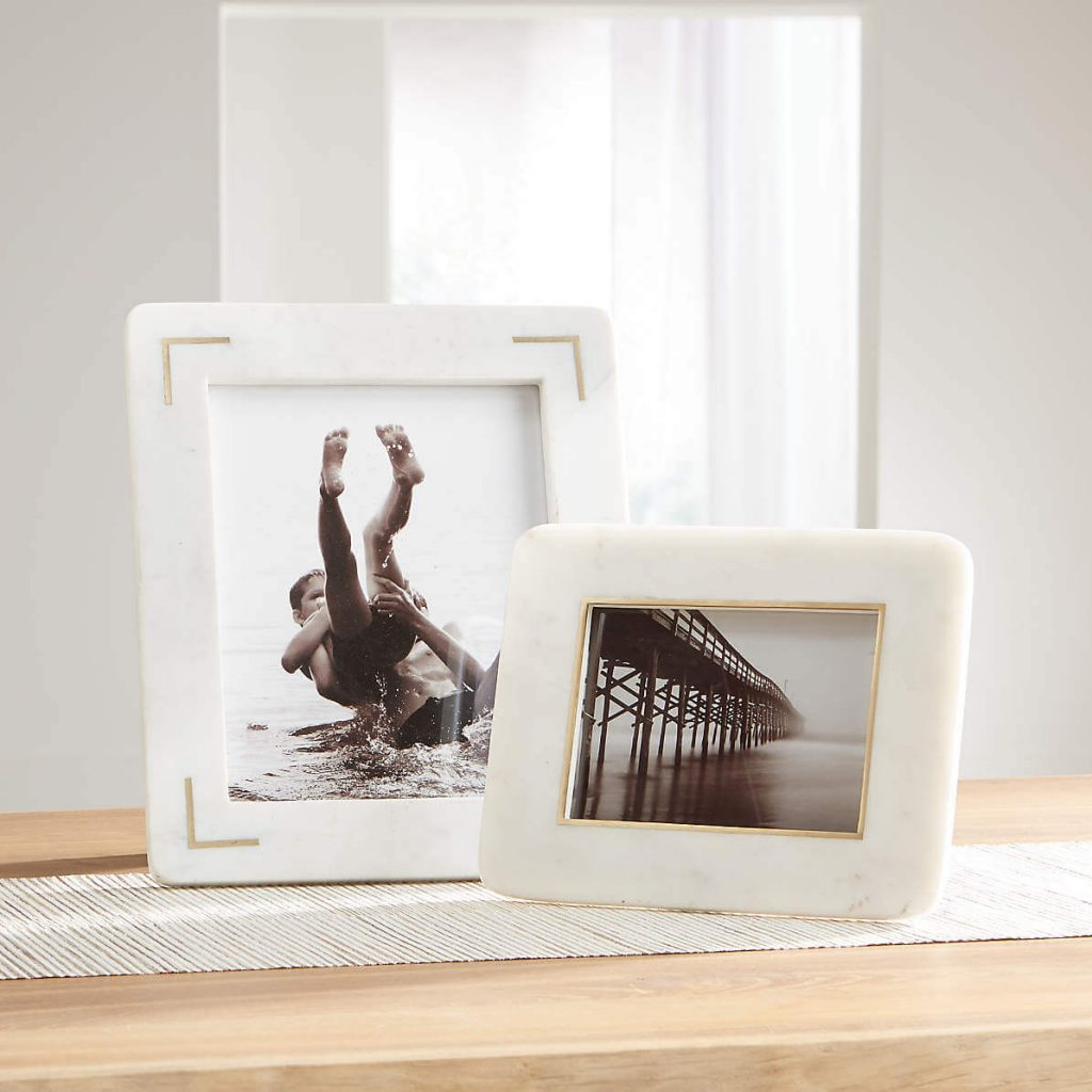 White Engineered Wood Decorative Hand Crafted Photo Frame