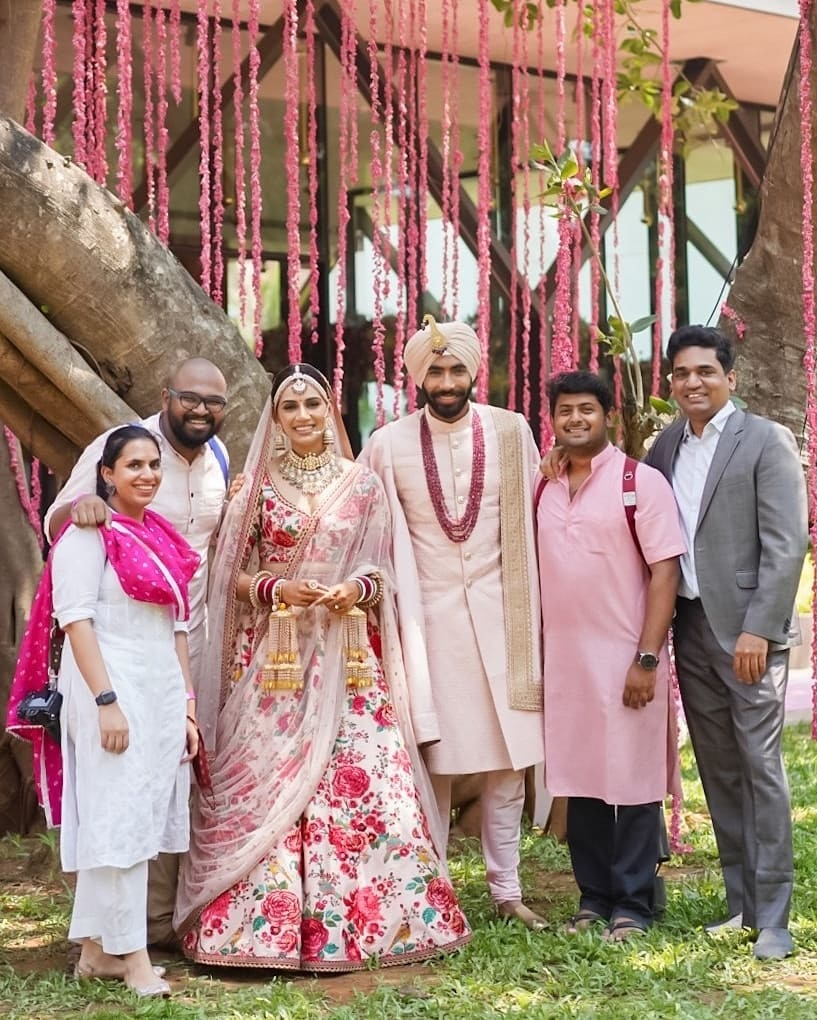 Jasprit Bumrah Sanjana Ganesan Wedding photos