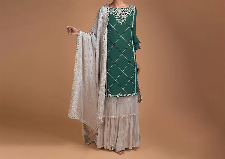 Offbeat with Sharara Suit