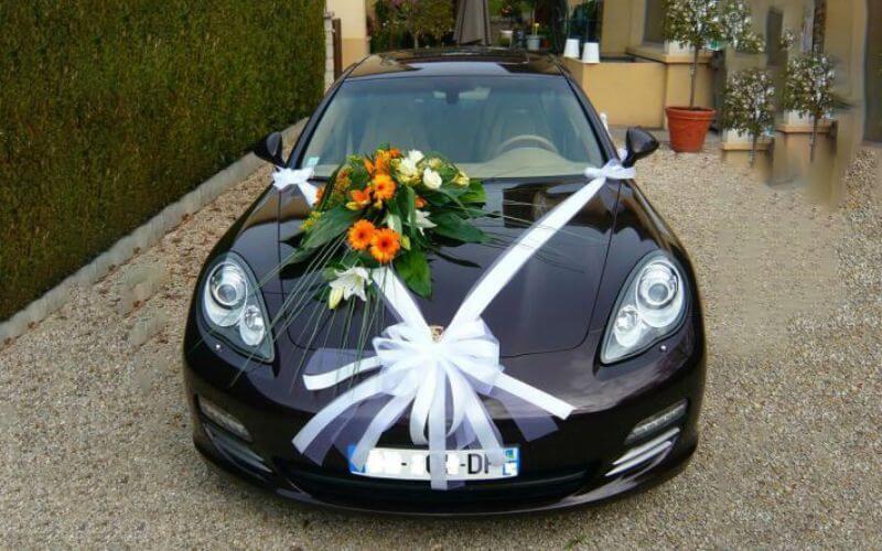 Bows Decor ideas for wedding car