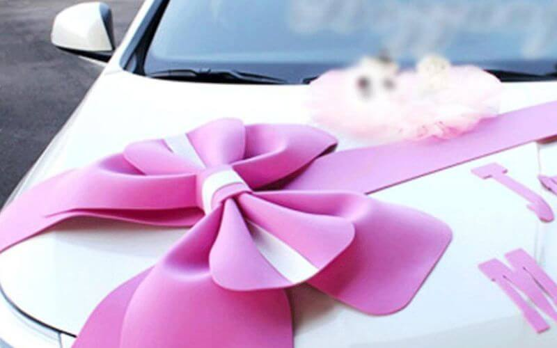 Car Decoration with Ribbons