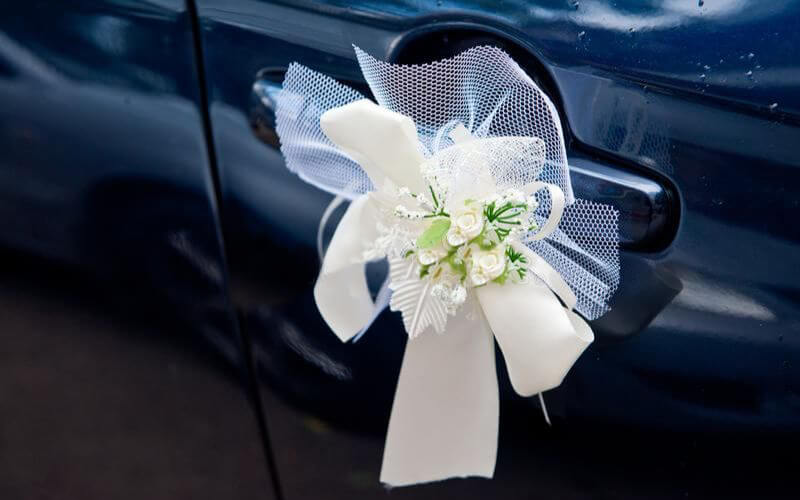 Decorative Corsage Fastened decoration on the car Handle