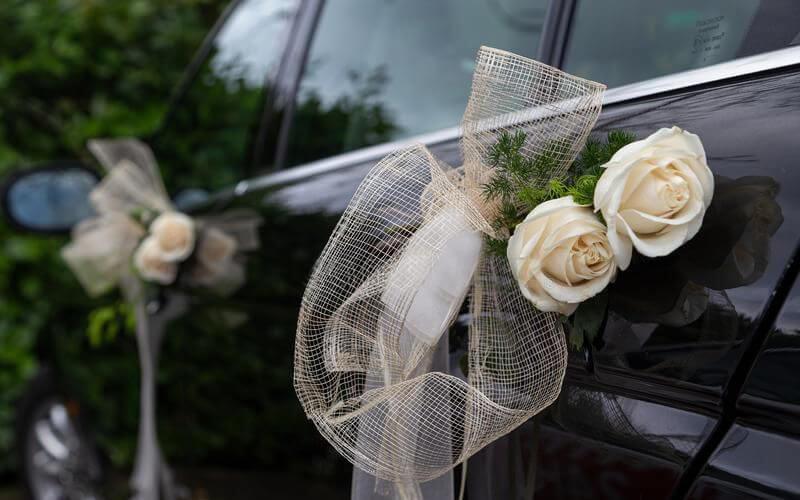 Fabrics and Roses Car Decoration ideas