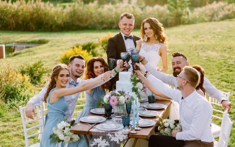 Wedding Guests during Pandemic Wedding