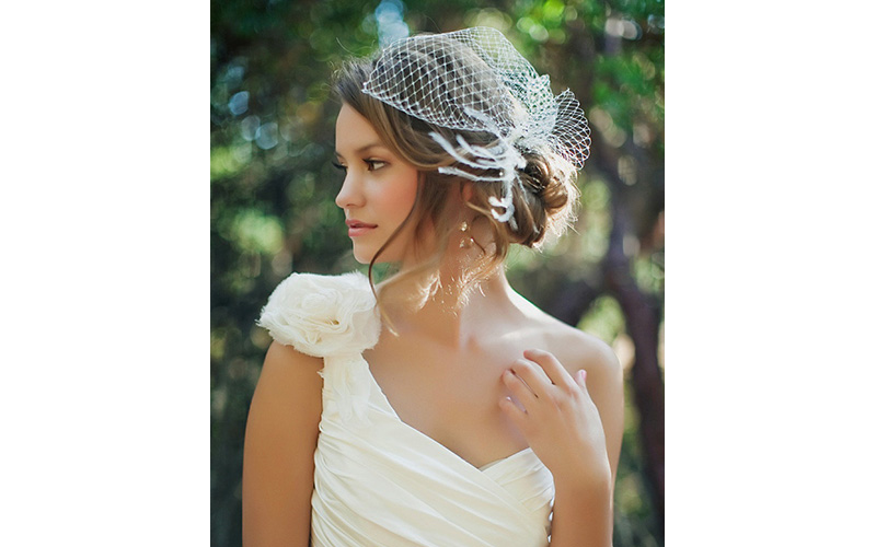 Birdcage Veil Hairstyle ideas for bridal wedding