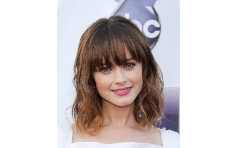 Bangs with Short, Tousled Waves